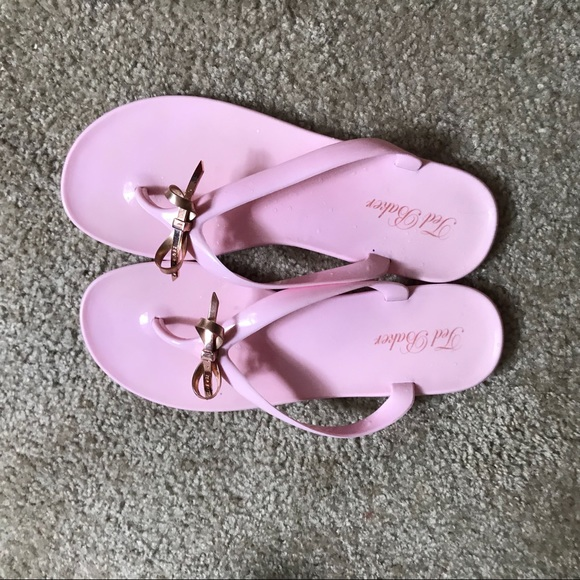 282b8d6257031 Ted Baker bow jelly flip flops pink.